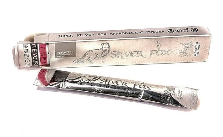 ''Silver Fox'' խթանիչ փոշի կանաց համար, տուփի մեջ 12 փաթեթ՝ 5 մգ - 7