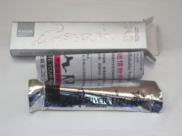 ''Silver Fox'' խթանիչ փոշի կանաց համար, տուփի մեջ 12 փաթեթ՝ 5 մգ - 2