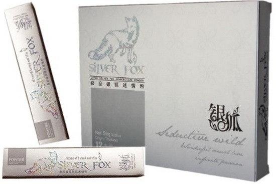 ''Silver Fox'' խթանիչ փոշի կանաց համար, տուփի մեջ 12 փաթեթ՝ 5 մգ - 9